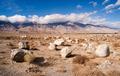Sagebrush Boulders Owens Valley Sierra Nevada Range California - PhotoDune Item for Sale