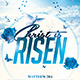 Christ is Risen Church Flyer - GraphicRiver Item for Sale