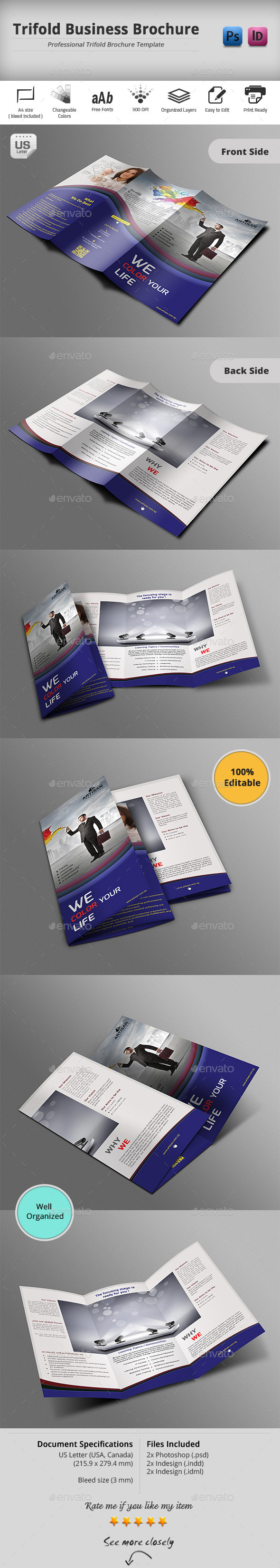GraphicRiver Trifold Brochure 10472925