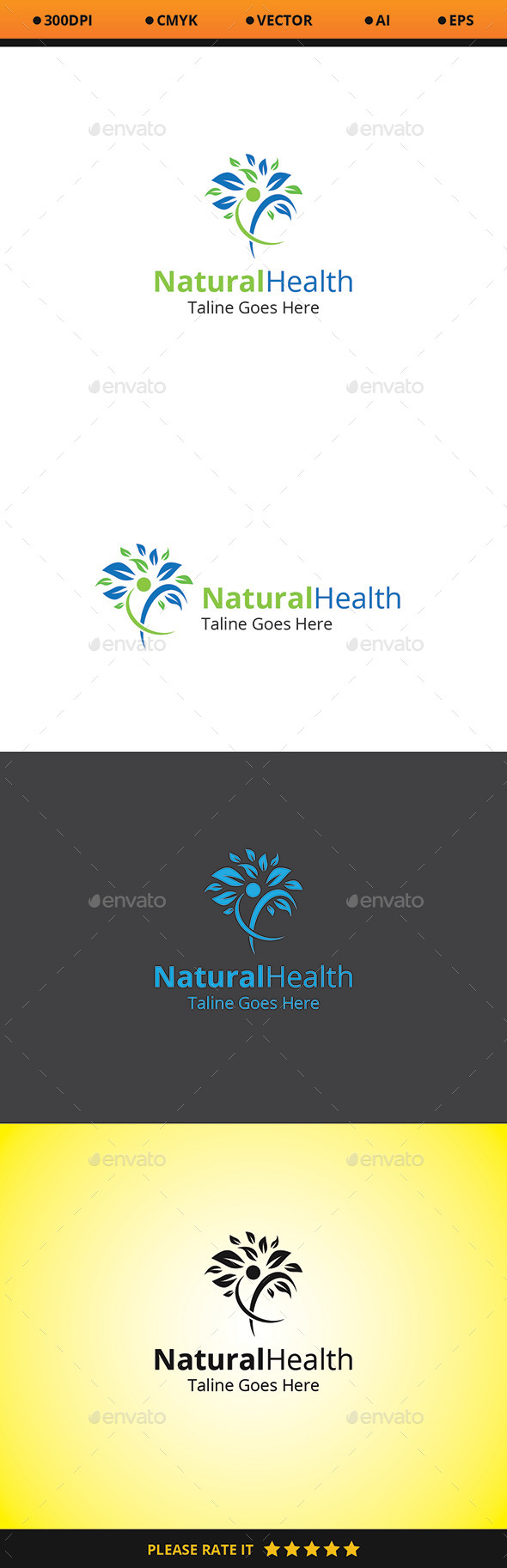 GraphicRiver Natural Health Logo 10472927