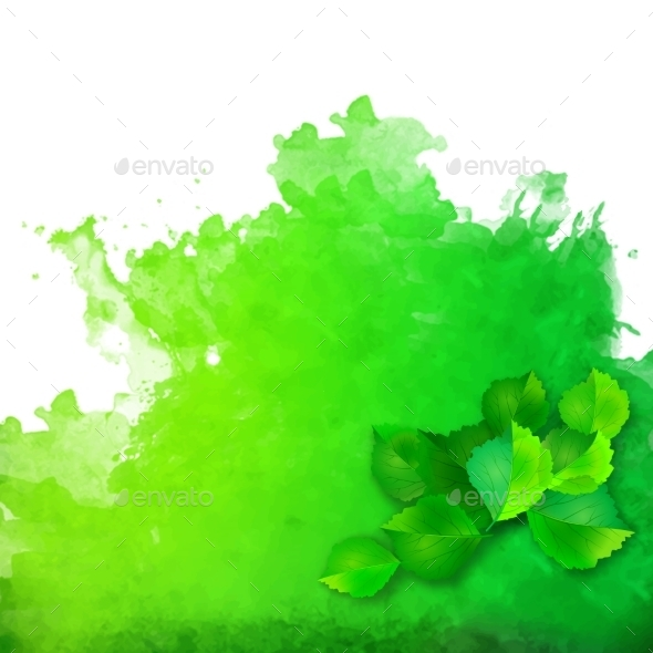 GraphicRiver Green Leaves 10472929