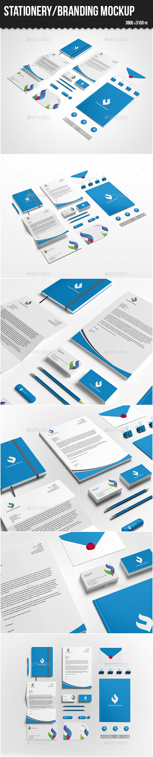 GraphicRiver Stationery Branding Mock-up 10472964