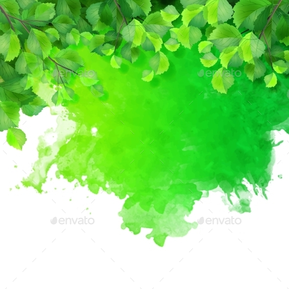 GraphicRiver Green Leaves 10473190