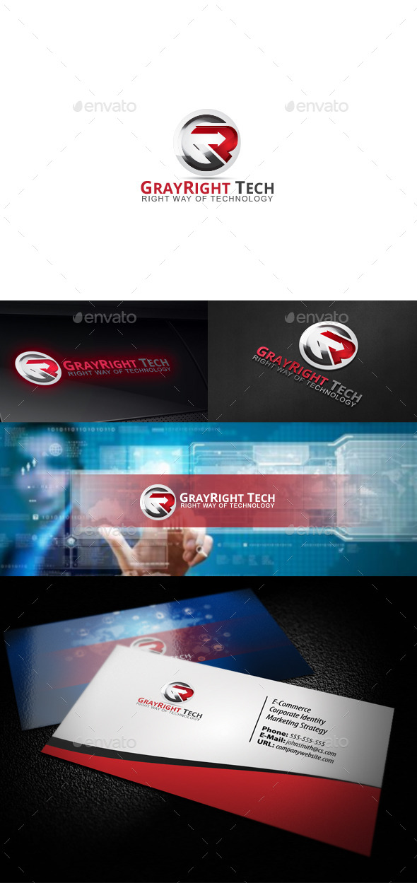 GraphicRiver GrayRight Tech 10473203