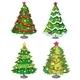 Four Christmas Trees - GraphicRiver Item for Sale