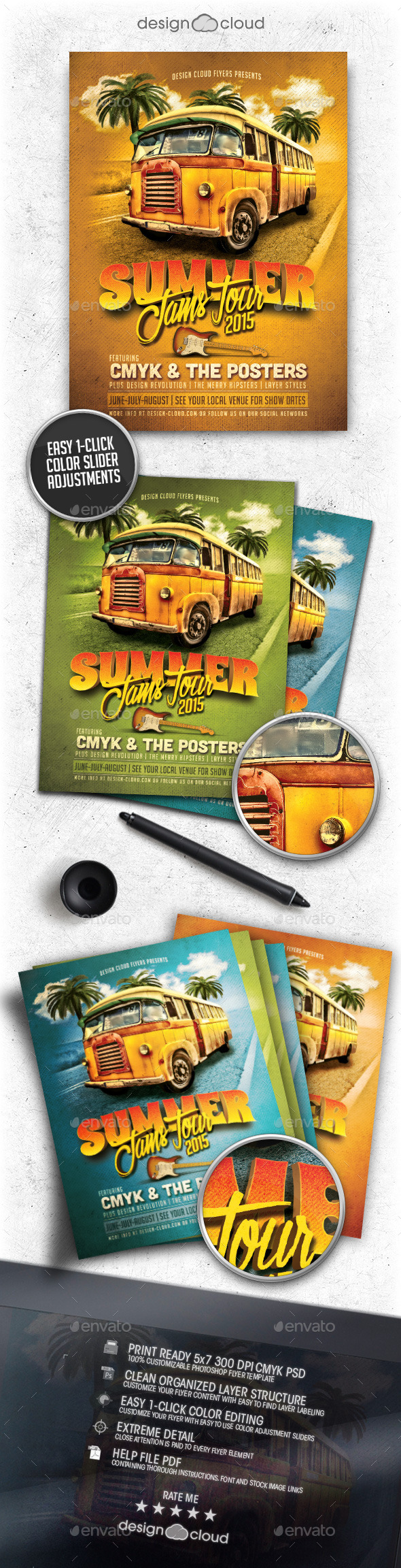 GraphicRiver Summer Jams Tour Poster Flyer Template 10473428