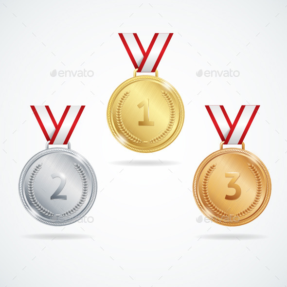 GraphicRiver Medals Set 10473501