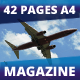 42 Pages Airplane Magazine Modern Template - GraphicRiver Item for Sale
