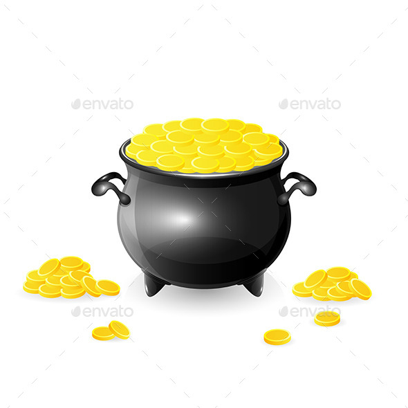 GraphicRiver Cauldron with Coins 10474164