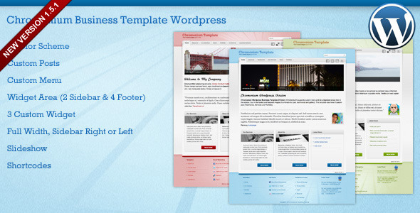 Chromonium Business Template Wordpress - Preview