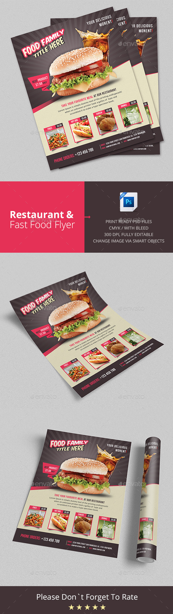 Restaurant & Fast Food Flyer