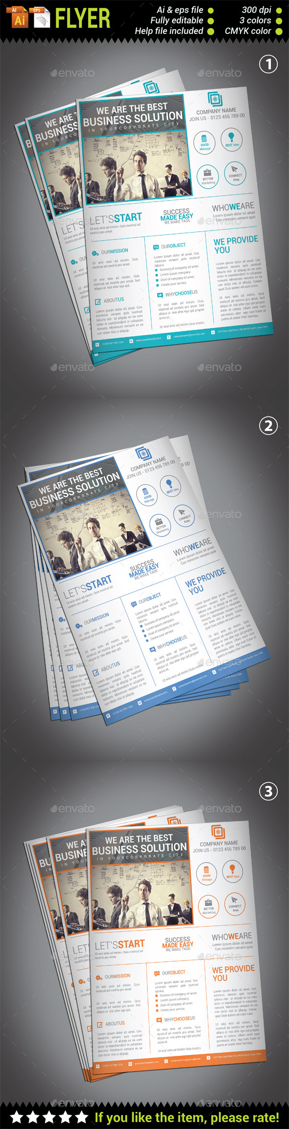 GraphicRiver Multipurpose Corporate Flyer Template 10427723