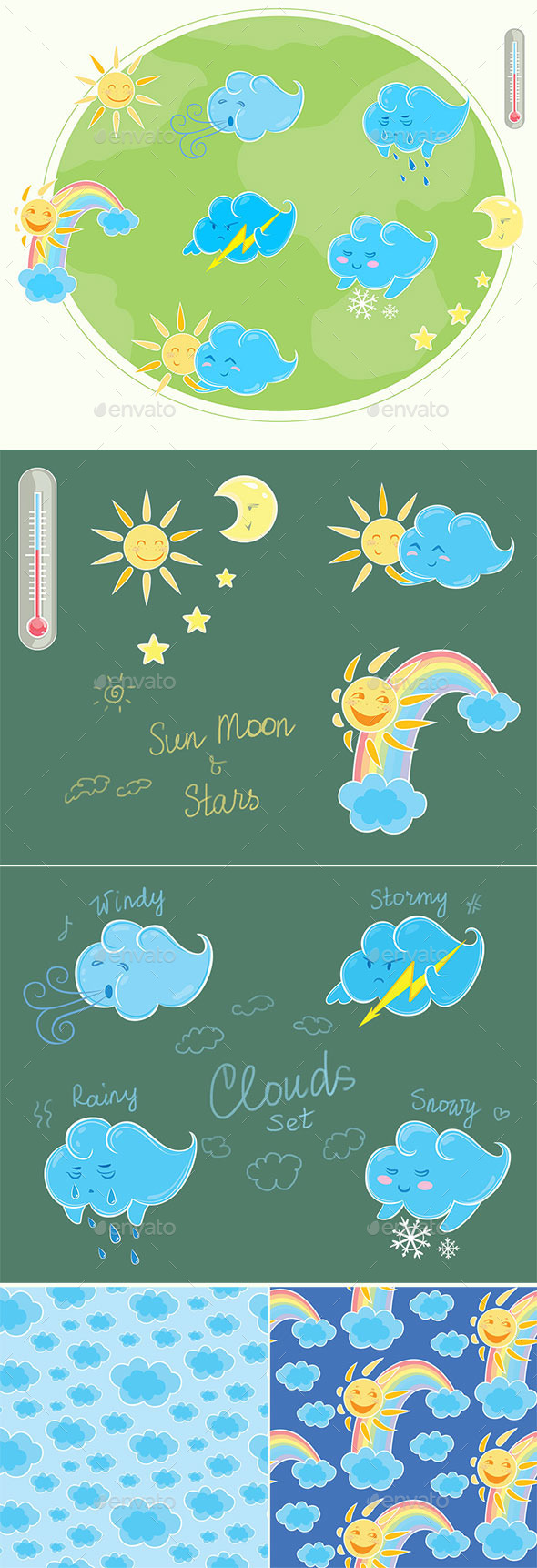 GraphicRiver Set of Weather Related Characters 10474751