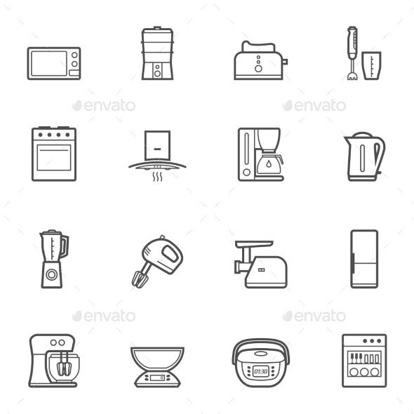 GraphicRiver Kitchen Appliances 10474892