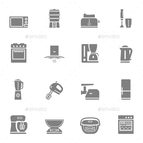 GraphicRiver Kitchen Appliances 10474901