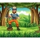 Woodman in the Forest - GraphicRiver Item for Sale