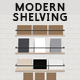 Shelf Unit Modern Display Shelving for Cards - GraphicRiver Item for Sale