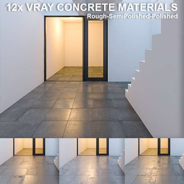 3DOcean 12 Vray Concrete Materials 10475374