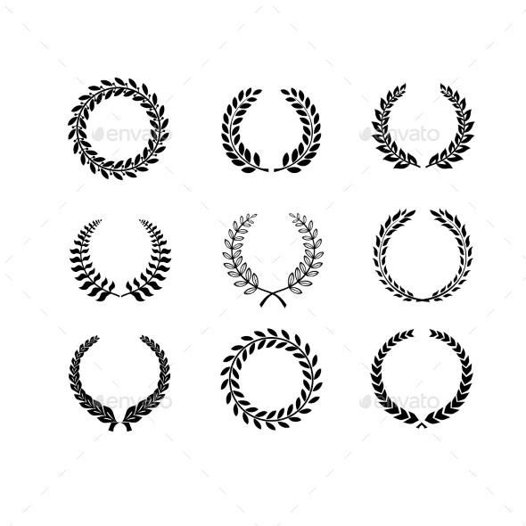 GraphicRiver Laurel Wreaths 10475579