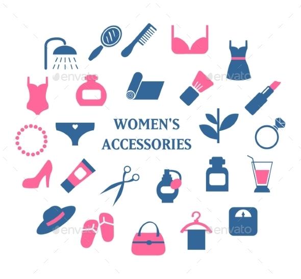 GraphicRiver Woman Accessories Set 10475584