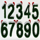 Stylized Christmas Numbers 01