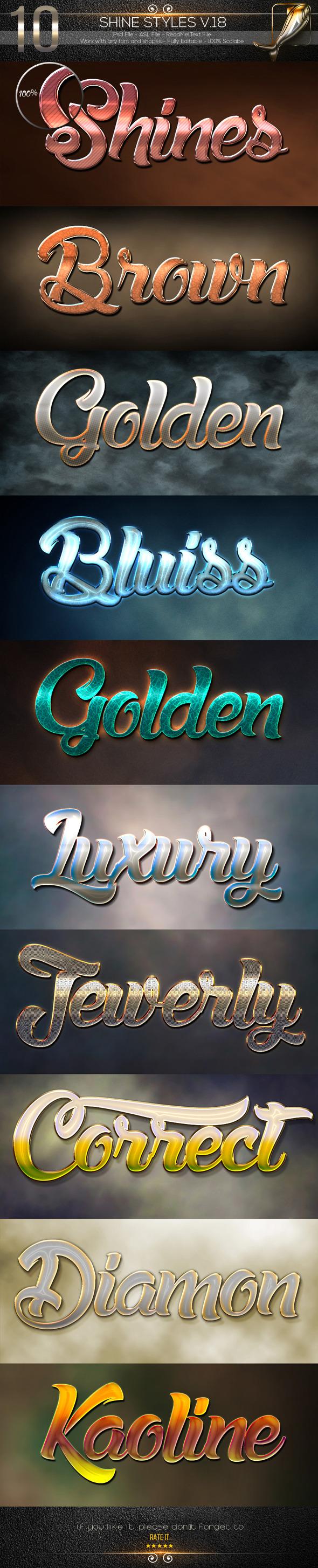 GraphicRiver 10 Shine Styles V.18 10475727