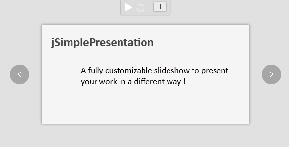jSimplePresentation - CodeCanyon Item for Sale