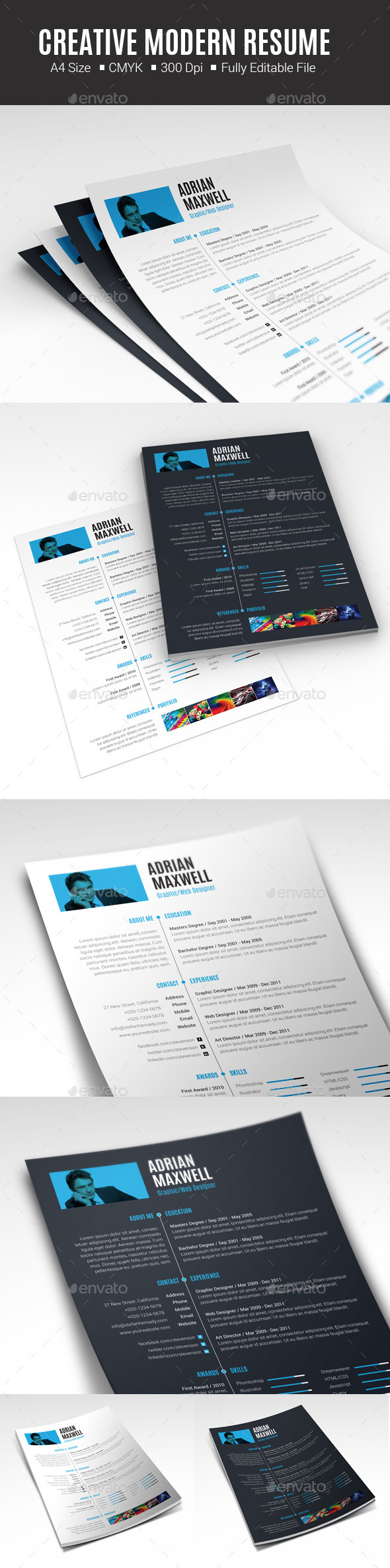 GraphicRiver Creative Modern Resume 10475934