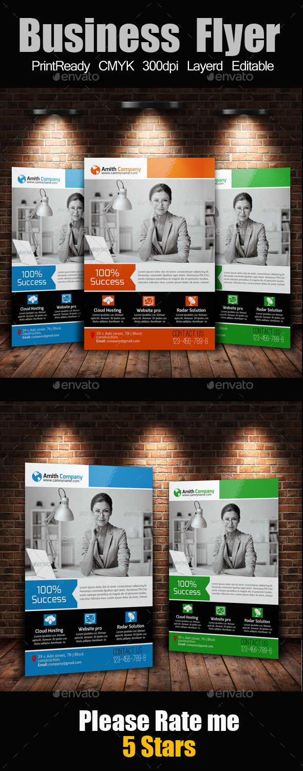 GraphicRiver A4 Business Flyer Template 10476070