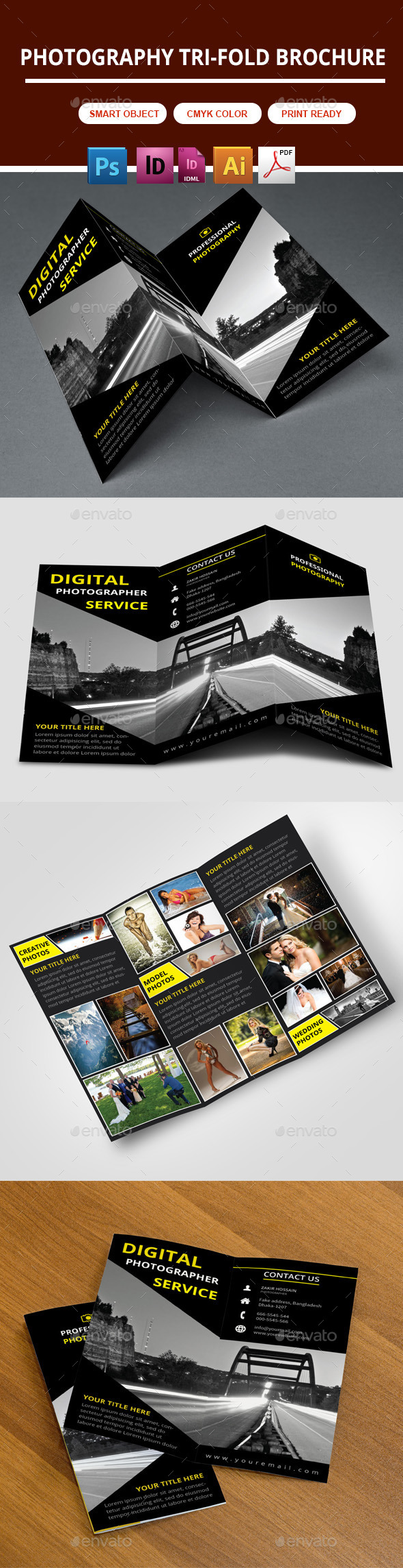 GraphicRiver Photography Trifold Brochure 10393866