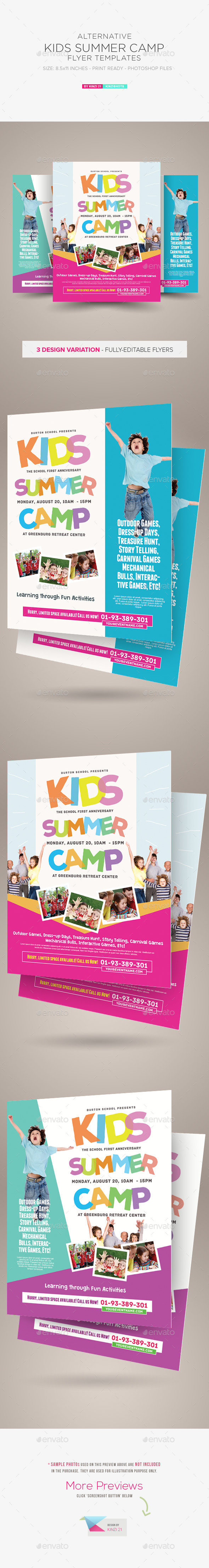 GraphicRiver Kids Summer Camp Flyer Templates 10476259