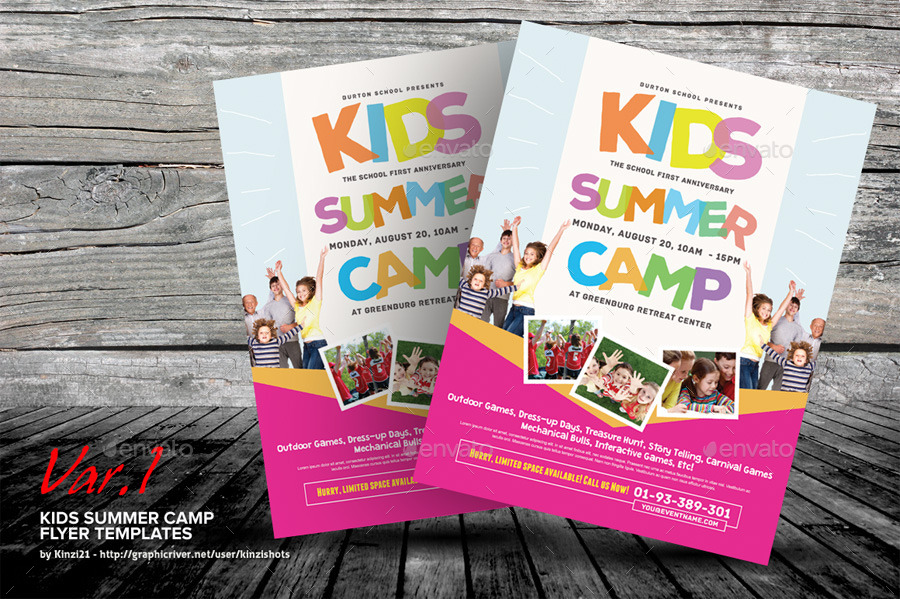Kids Summer Camp Flyer Templates by kinzishots – Summer Camp Flyer Template