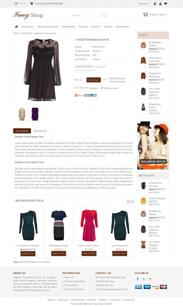 Fancy Shop - Opencart Responsive Theme