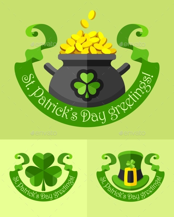 GraphicRiver Emblems For Saint Patricks Day 10476574