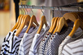 Striped Female Pullovers in a Clothing Store - PhotoDune Item for Sale