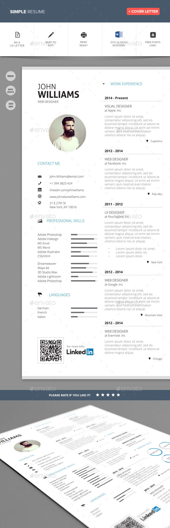 GraphicRiver Simple Resume Vol 2 10435829