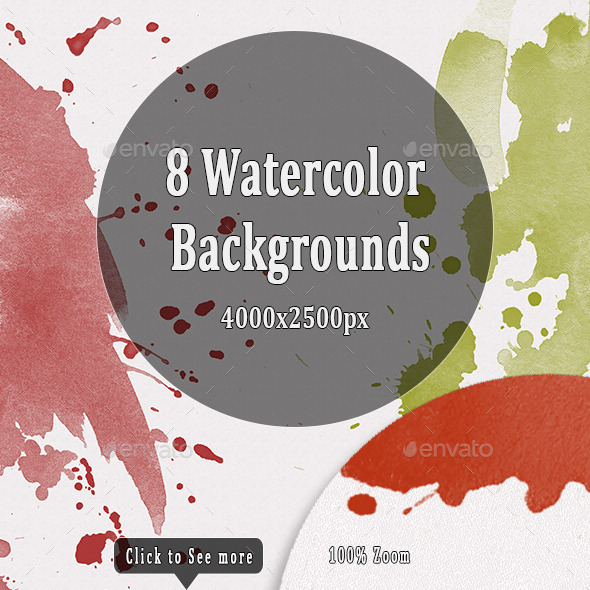 GraphicRiver Watercolor Backgrounds 10476832