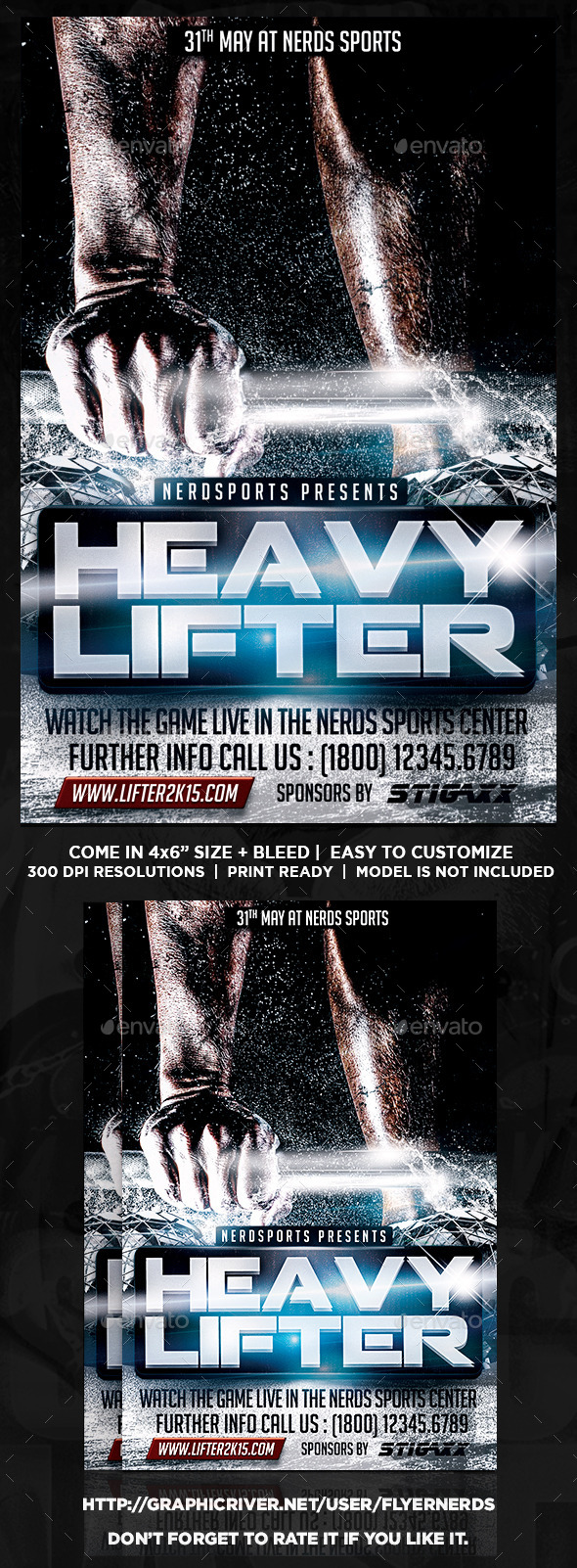 GraphicRiver Heavy Lifter 2K15 Championships Sports Flyer 10476885