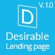 Desirable -  Business Landing Page Template - ThemeForest Item for Sale