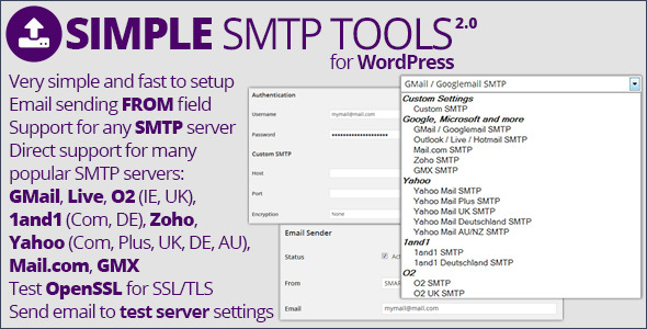 Simple SMTP Tools - CodeCanyon Item for Sale