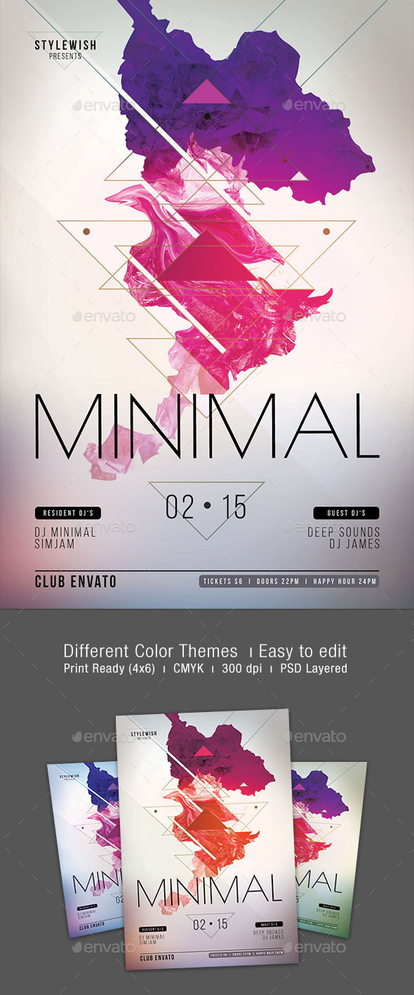 GraphicRiver Minimal Flyer 10477158