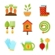 Set of Flat Isolated Garden Icons Vector Illustra - GraphicRiver Item for Sale