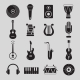 Set of Black and White Musical Instruments - GraphicRiver Item for Sale