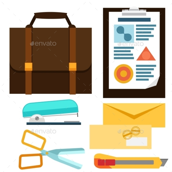GraphicRiver Office Icons Set 10477512