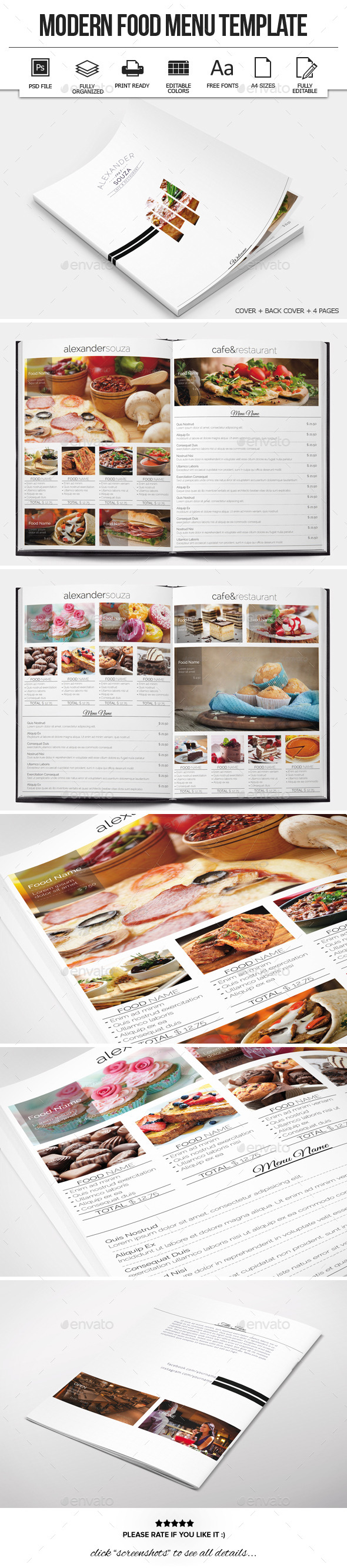 GraphicRiver Modern Food Menu Design 10477515