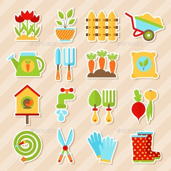 Garden Element Stickers