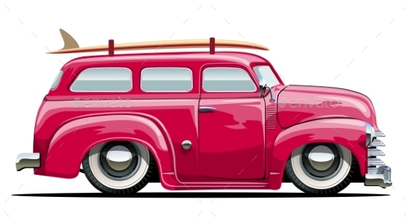 GraphicRiver Cartoon Retro Van 10477535