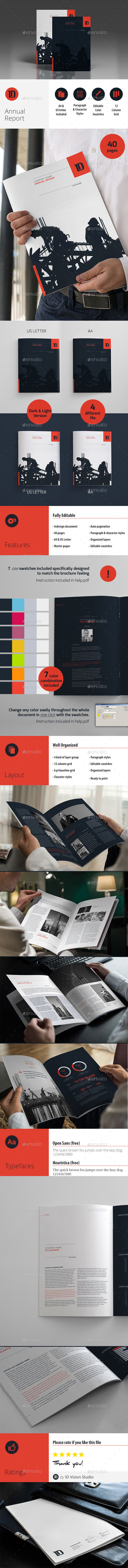 GraphicRiver Annual Report Template 10436271
