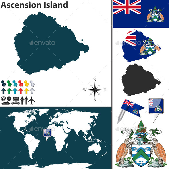 GraphicRiver Map of Ascension Island 10477584