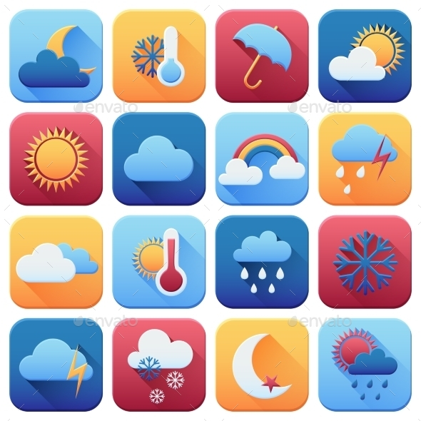 GraphicRiver Set of Weather Icons 10477593